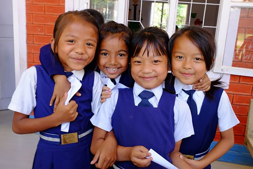 School children posing together