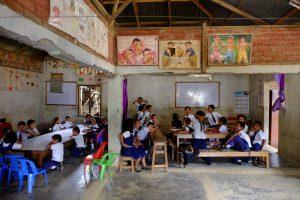 Sponsored kids in a classroom