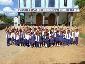 Preschool kids in India
