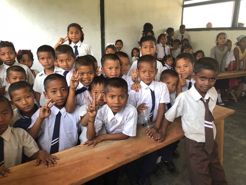 Children in a school classroom