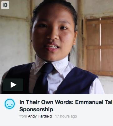 Emmanuel talks about Child Sponsorship