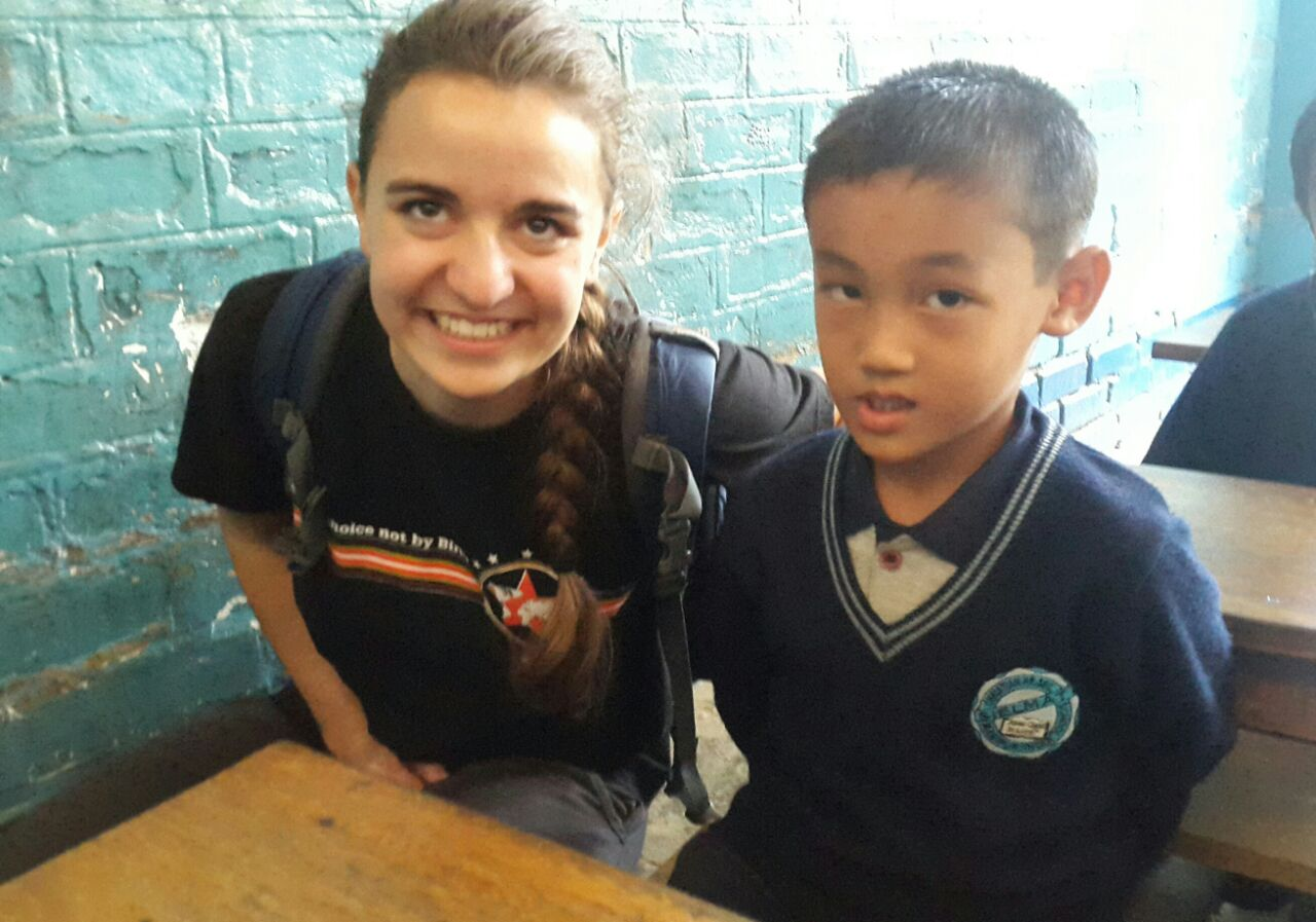 sponsor with her sponsored child
